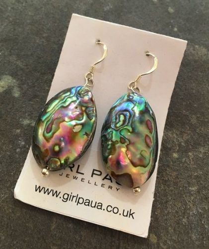 Paua Large Shell Earrings PE06-SSHELL